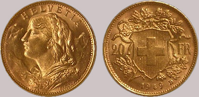 gold-coins-swiss-francs Gold coins we trade with | Sell gold coins made easy
